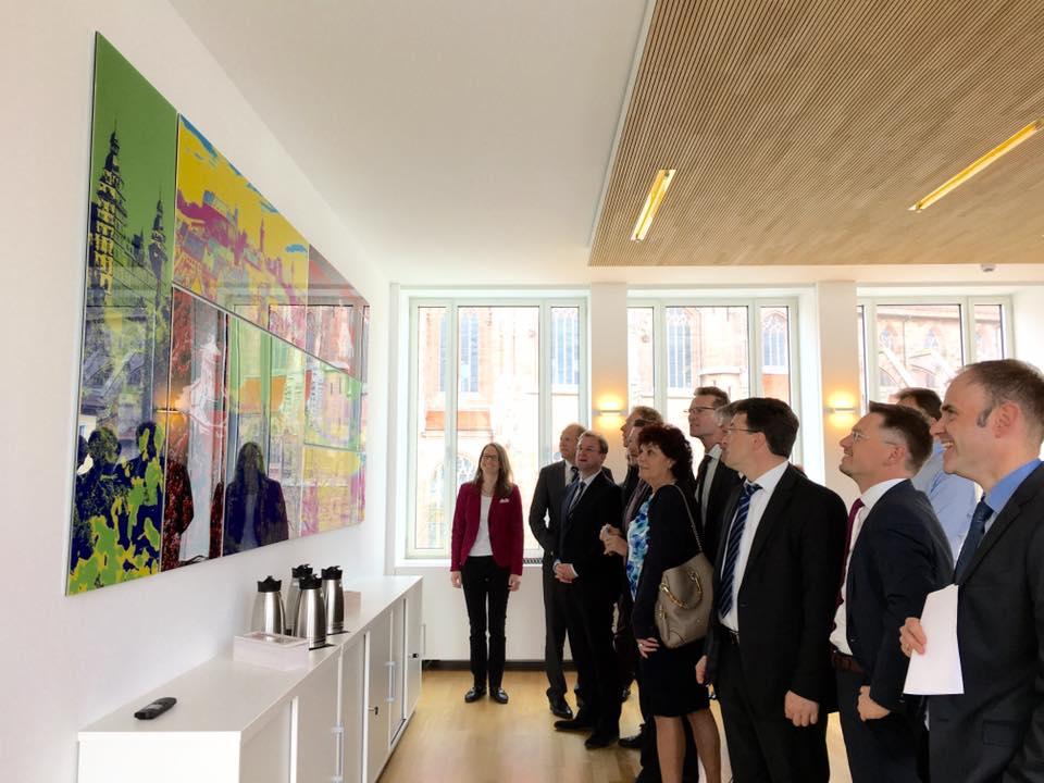 Besuch des Ausschusses für Fragen des öffentlichen Dienstes im Nürnberger Heimatministerium